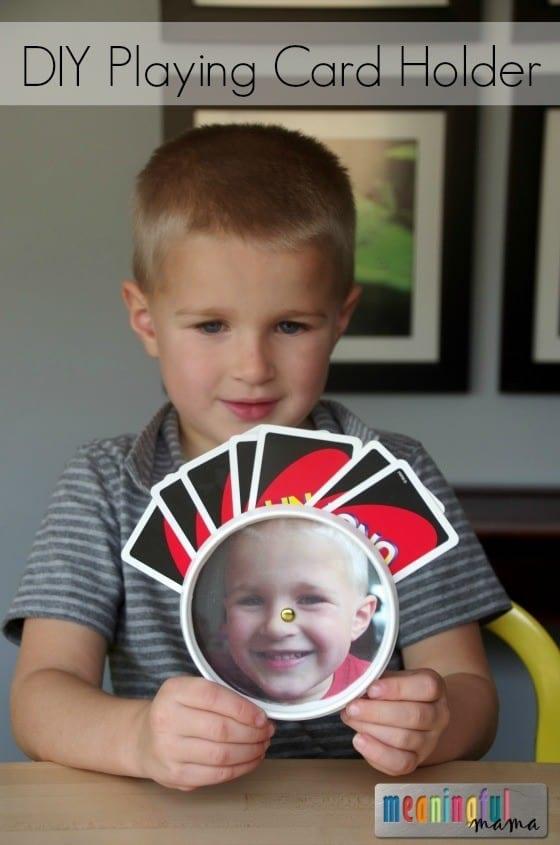DIY Playing Card Holder for Kids Nov 10, 2015, 1-11 PM