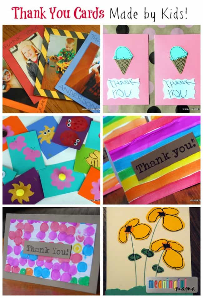 Homemade Thank You Cards Kids