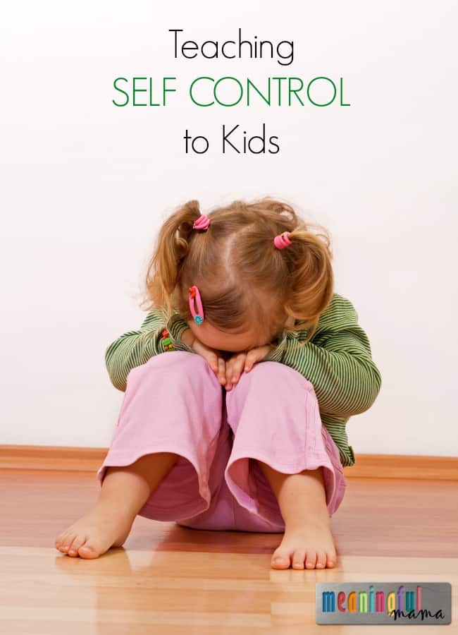 Teaching Self Control to Kids - Character Development