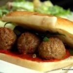 Meatball Ciabatta Sandwiches