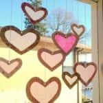 Window Tissue Paper Hearts