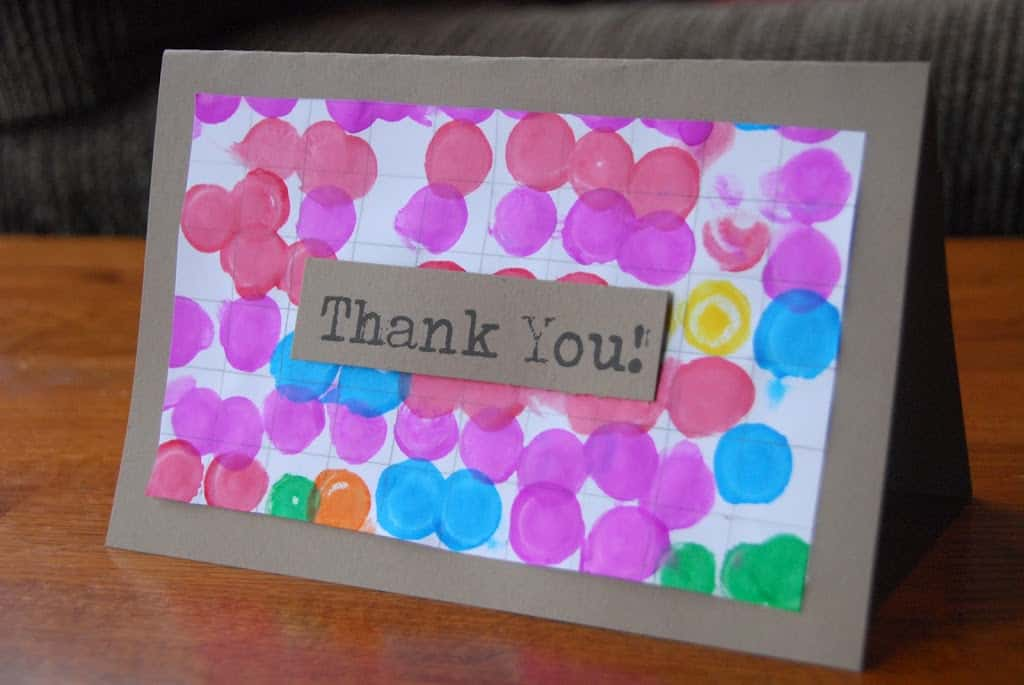 Ideas For Making Thank You Cards Part - 19: I Like Bold And Graphic Design. I Also Like Finding Simple Crafts That Kids  Can Do That Yield Cool Looking Results. So, This Is What I Came Up With As  We ...