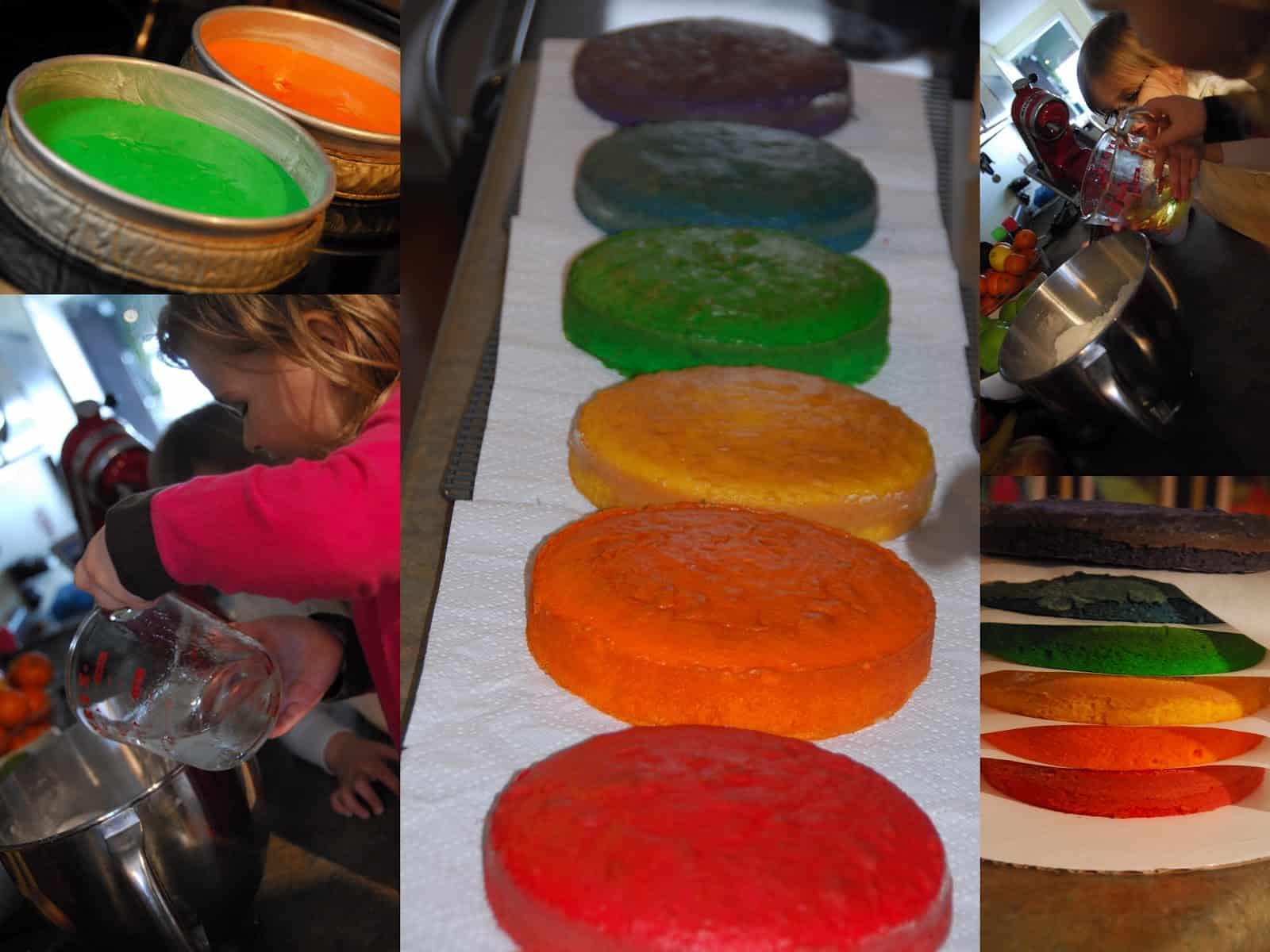Торт радуга рецепт пошагово с фото