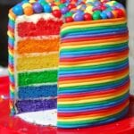 Rainbow Birthday Cake