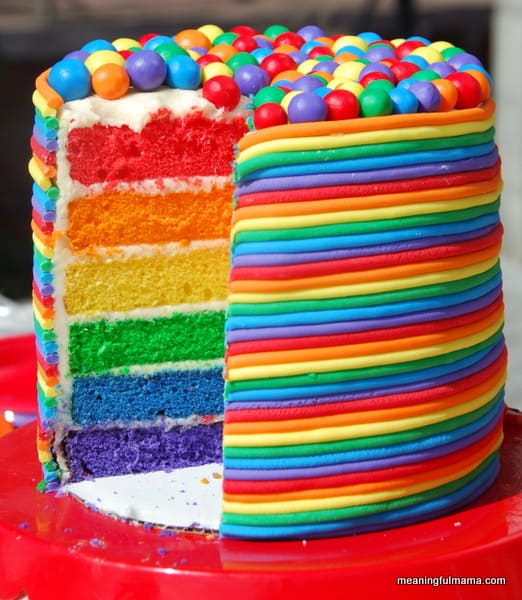 Pics Photos Coolest Rainbow Birthday Cake 24