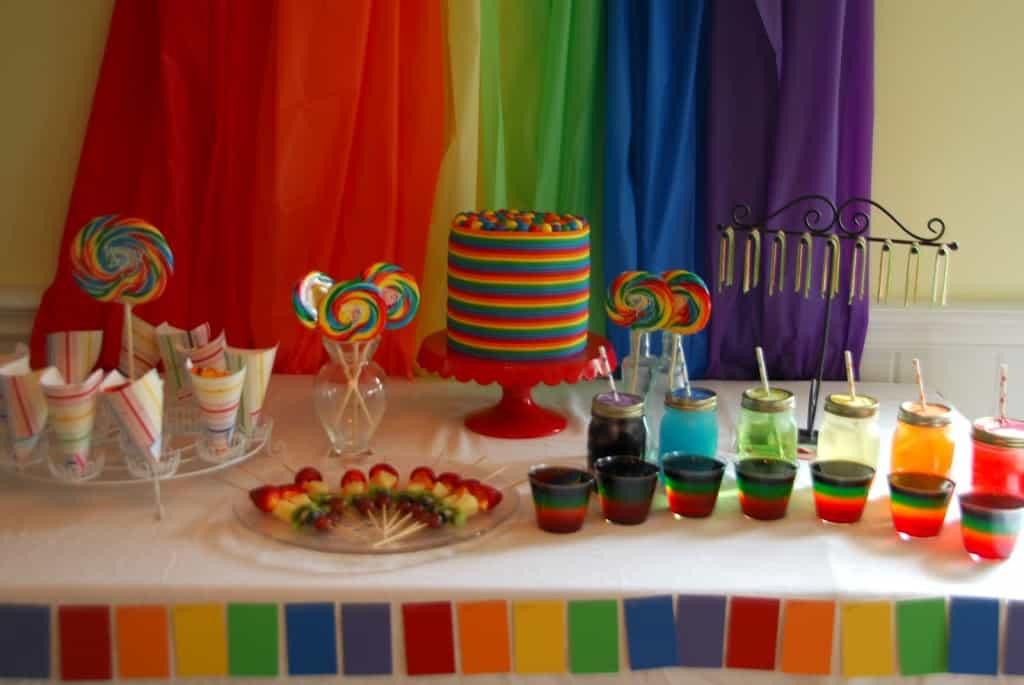 Day #85 Rainbow Birthday Party - Meaningfulmama.com