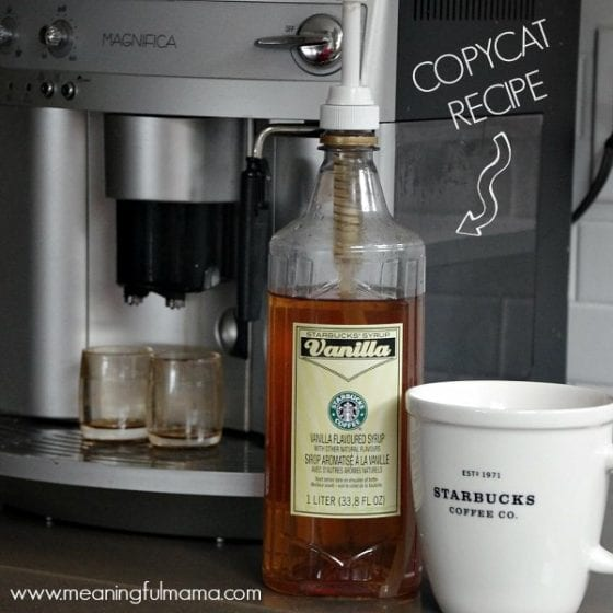 copycat recipe for Starbuck's vanilla syrup