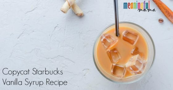 Make Your Own Starbuck's Vanilla Syrup