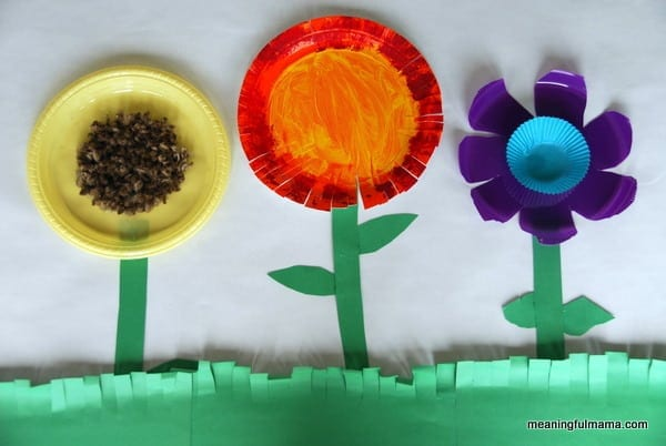 Paper plate flowers were easy to do and kept the kids wanting to do more. We had a lot of fun. The basic materials were paper or plastic plates paint ... & Paper Plate Flower Garden