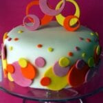 Polka Dot Sweet 16 Cake & Edible Glue