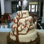 Tree & Birds Wedding Cake