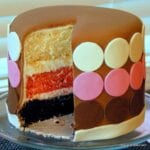 Neapolitan Baby Shower Cake