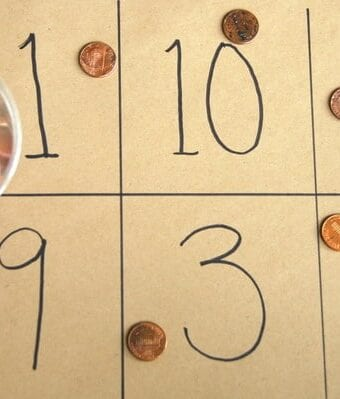 Learning Numbers Penny Toss