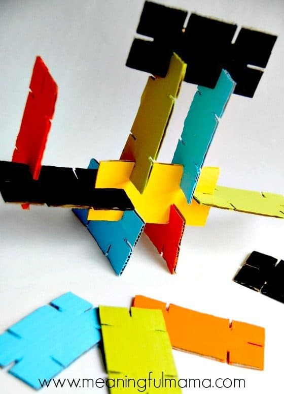 DIY Cardboard Stackers - Homemade Building Toys for Kids