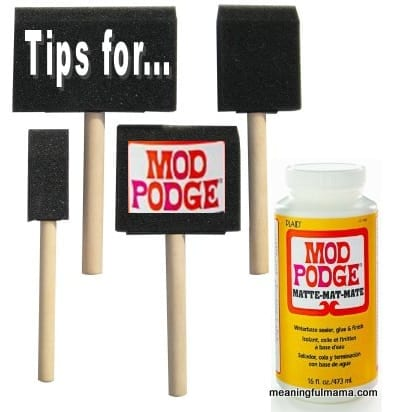 10 Tips for Using Mod Podge