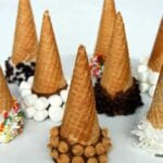 Chocolate Dipped Ice Cream Cones