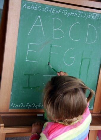 Disappearing Chalk Letters