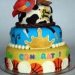 Graduation Cake & How to Make Perfect Fondant Balls