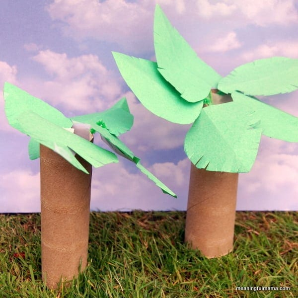 Flexibility and the palm tree for How to make a tree out of toilet paper rolls