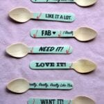 Washi Tape Wooden Ice Cream Spoons