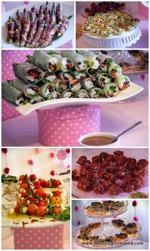 Baby Shower Girl Snacks ~ Baby shower food ideas pink