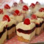 Raspberry Cream Dessert Shooters
