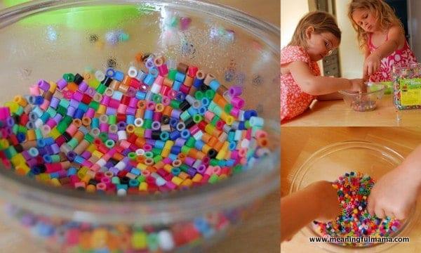 kids crafting bead bowl