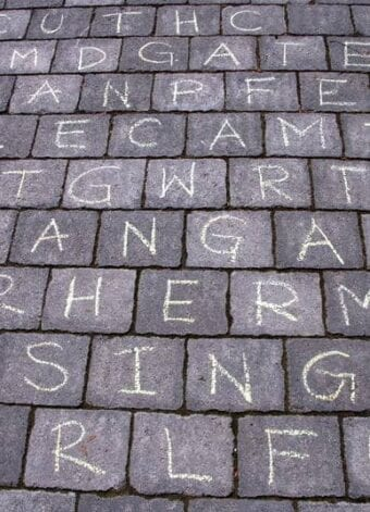 Outside Chalk Word Search