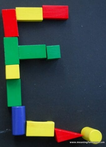 Learning Letters with Blocks