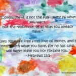Day #223 Contentment Water Color – Character Development, Week #32