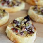 Cheesy Olive Tapenade Crostini