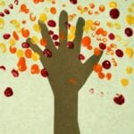 Fall Tree with Hands and Fingerprints