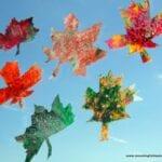 Fall Leaf Crayon Craft