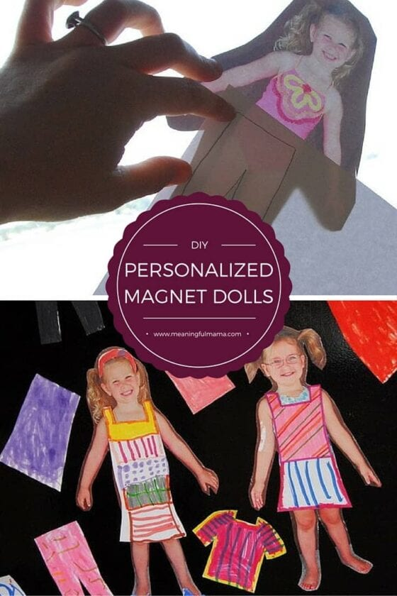 Personalized Magnetic Paper Dolls Of Your Child