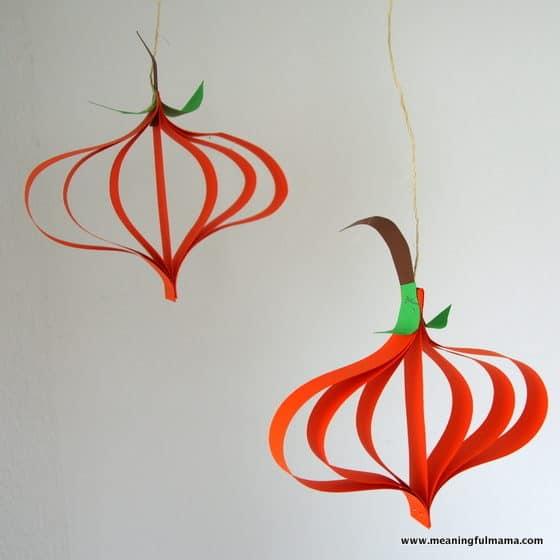 1-Paper Pumpkin Tutorial - Harvest and Halloween Crafts Sep 6, 2016, 9-039