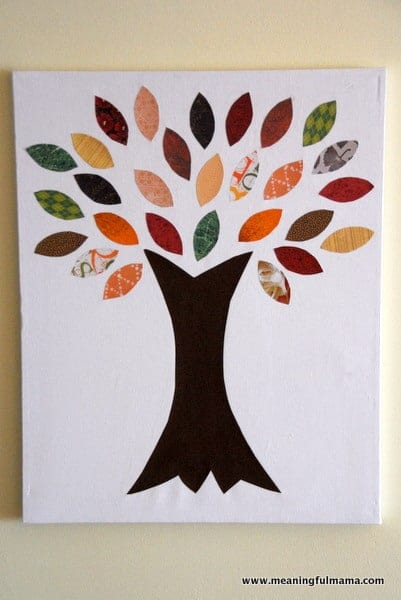 fall tree craft ideas fall paper tree on canvas 4427