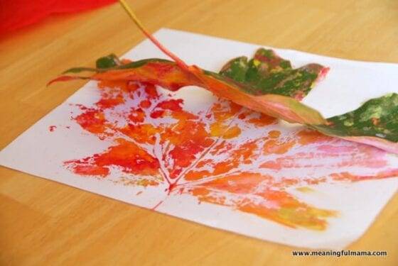 Fall Leaf Prints for Kids