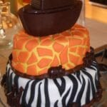 Day #295 – Noah's Ark Cake for a Twin Baby Shower and Shower Details