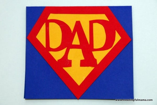 Super Dad Card with Printable – Birthday Card for Dad from Kids