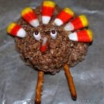 Thanksgiving Turkey Rice Krispy Treat