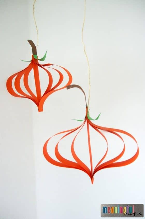 Paper Pumpkin Tutorial - Harvest and Halloween Crafts Sep 6, 2016, 9-23 AM