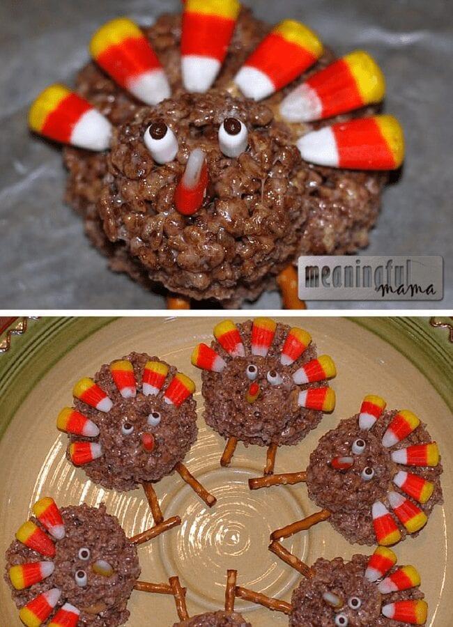 turkey rice krispies marshmallow treats