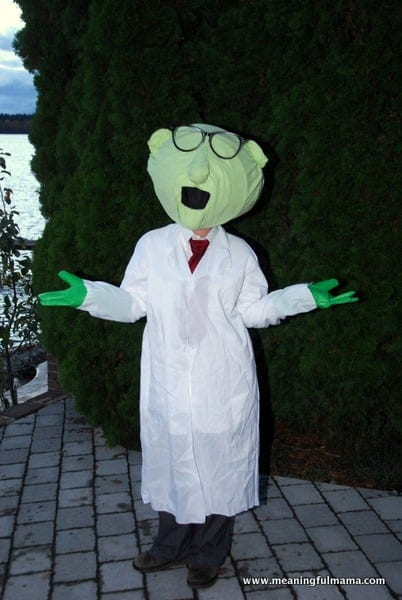 DIY Family Muppets Halloween Costumes - Bunsen Costume