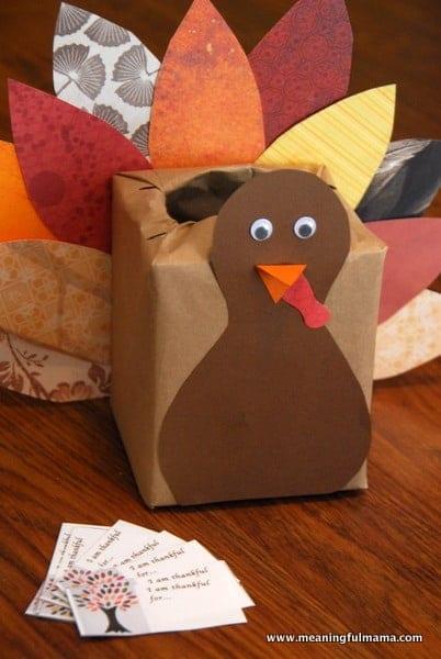 Thanksgiving Kleenex Box Turkey Kids Craft