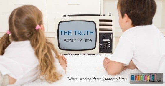 Brain Research and Television Time for Kids