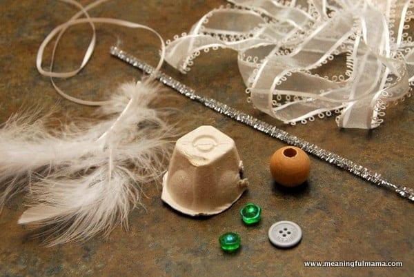 Christmas angel egg carton craft for Egg carton christmas crafts