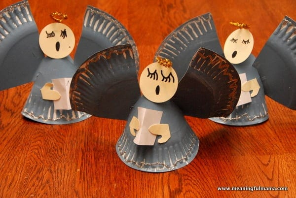 Angel Paper Plate Christmas Craft