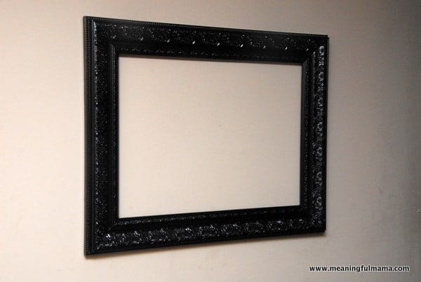DIY Chalkboard with Antique Looking Frame Tutorial
