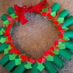 Day #344 – Hanger Wreath Christmas Craft