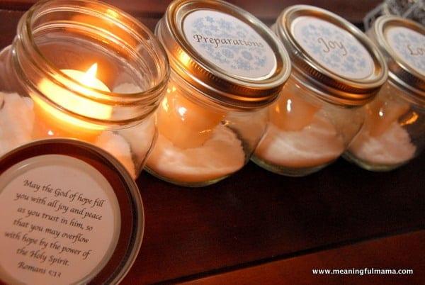 """Mason Jar Advent """"Wreath"""" with Printable"""
